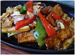 厚揚げと野菜の鉄板焼き