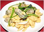 牡蠣と玉子炒め