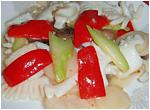 帆立貝とイカの塩炒め