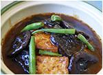 椎茸と揚げ豆腐煮